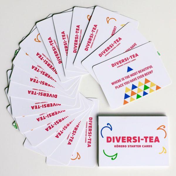 Diversi-Tea Kōrero Starter cards to download